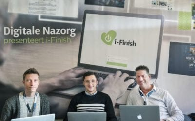 Startup i-Finish: Digitale Nazorg is in newspaper Haarlems Dagblad